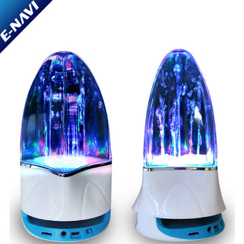 Made In China Good Design Crystal Mini Speaker with Colorful Led Light Wireless Player