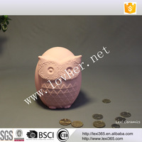Lovely owl Beautiful Wholesale porcelain money box