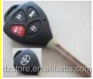 Wholesale price 4 button remote key (314.4 mhz/G chip) TOY43 for toyota key blade