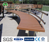 modern outdoor waterproof weight long wooden bench