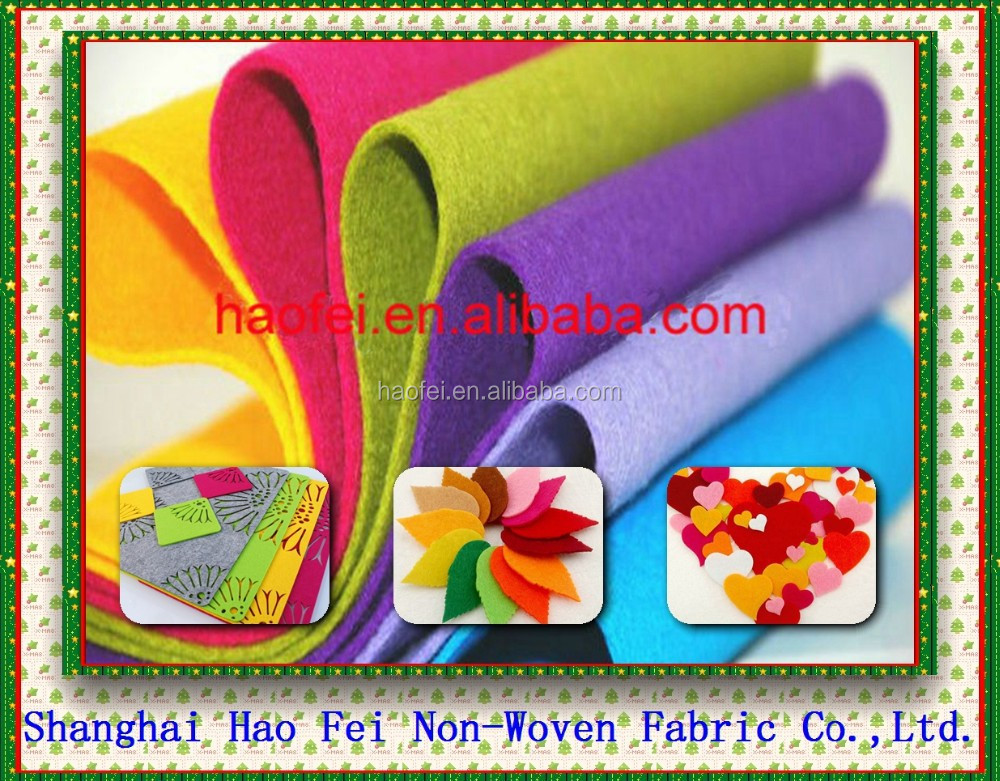 Polyester Meterial and Plain Style Polyester Needle Felt