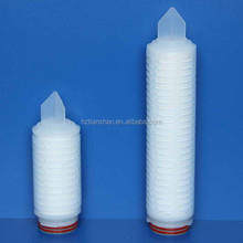 High temperature Hydrophillic PTFE filter pleated membrane filter for mineral water/ozone water