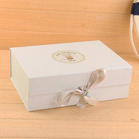 supplies luxury new style ribbon baby gift box packaging