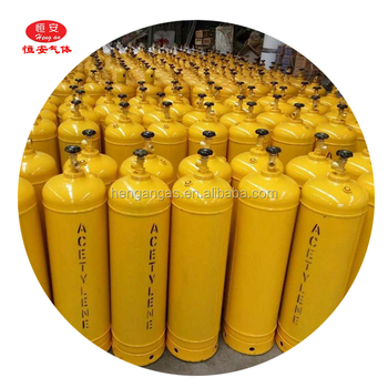 99.9% high purity acetylene gas in 40L cylinder