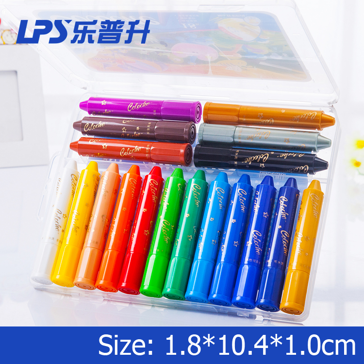 Art Fan Non Toxic Wax Crayon Set of 18 Colors Solid Material Watercolor Crayon For School Children