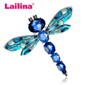 3 Colors High Quality Women Elegant Brooch Cute Rhinestone Dragonfly Brooches Insect Brooch pins Fashion Jewelry broschen Gifts