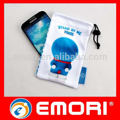 Non toxic corporate gifts multipurpose drawstring microfiber cell phone pouch