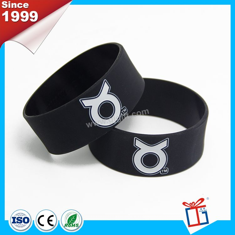 Free design friendship silicone wristband engraved with ink