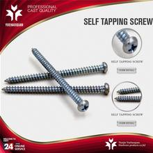 small self tapping screws pan head iron self tapping screw galvanized with low price
