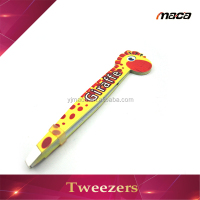 TW1148 Hot China beauty eyebrow tweezers with printing cute tweezer