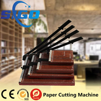 SIGO factory 828 manual wooden paper cutter/guillotine prices