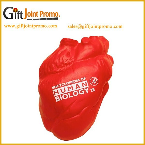 Customized PU Anatomical Heart Stress Ball