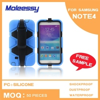 Waterproof full body hybrid case for samsung galaxy note 4
