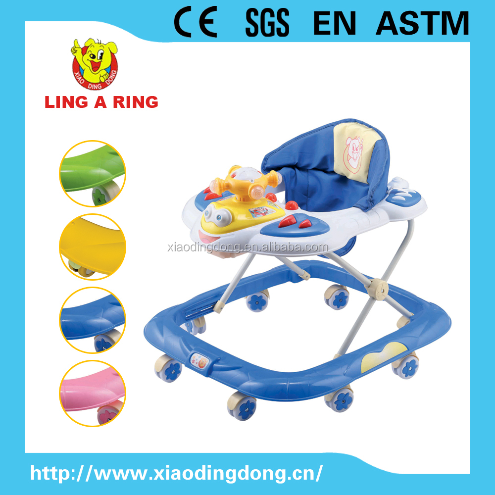 2016 Best selling cheap baby walker with music and lighting head Old fashion walker for baby with music 2013 best baby walker