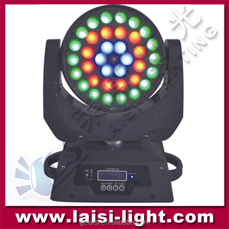 Fancy party stage decorating5in1 rgbwa wash light , 36pcs 3w led moving head beam light