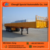 Tri-axle dropside semi trailer, BPW axle 20ft/40ft cargo trailer, 45 tons side wall semi trailer