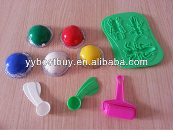 educational toy 2 in 1 silicone rubber dough toy for kids