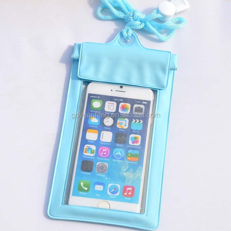 Waterproof cell phone case for iPhone 6 6S 5 5S 4 4S clear window and zippers