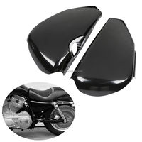 TCMT XF2906C147-B Left Right Side Battery Cover For Harley Sportster XL 1200 Iron 883 2004-2013 12