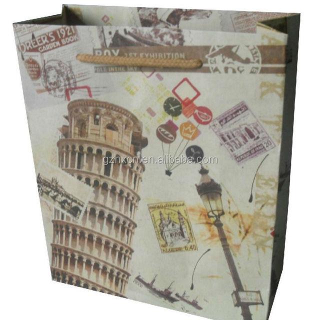 Classic design paper gift bag for photo fram