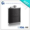 zeal stainless steel 8oz hip flask with black leather