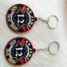 new design soft pvc rubber key chain 3d pvc key chain