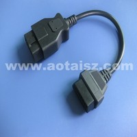 China online shopping universal car diagnostic tool round male to female obd ii cable