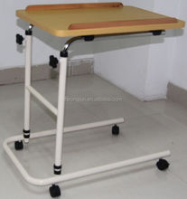 Steel height adjustable over bed table hospital dinning table RJ-T6832