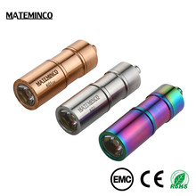 Mateminco K01 Mini Keychain Copper Usb Rechargeable Recharge Led Torch Light Flashlight
