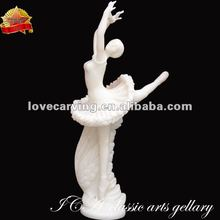 Hand carved white marble Ballet lady statue sculpture