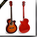 Finlay FS-4014 foshan factory price 40'' cutaway custom string musical instrument electric acoustic guitar