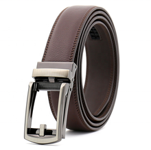 PAITEER Luxury Durable Genuine Leather <strong>Belt</strong> For Men Automatic Buckle