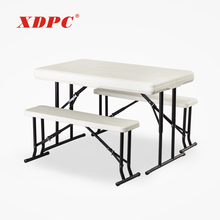 china wholesale hot sale modern white folding dining picnic table benches