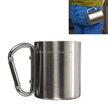 20ml Portable Stainless Steel Mug / Camping Cup Carabiner / carabiner stainless steel travel mugs