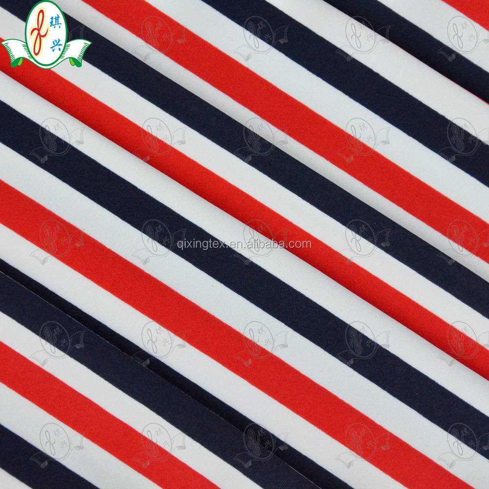 Classic striped swimsuit elastic fabrics