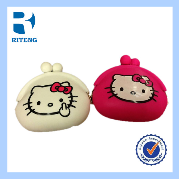 hello kitty cute silicone candy rubber coin purse for girls
