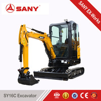 SANY SY16C 1.6 tons New Product Mini Excavator of Trench Digger for Hot Sale