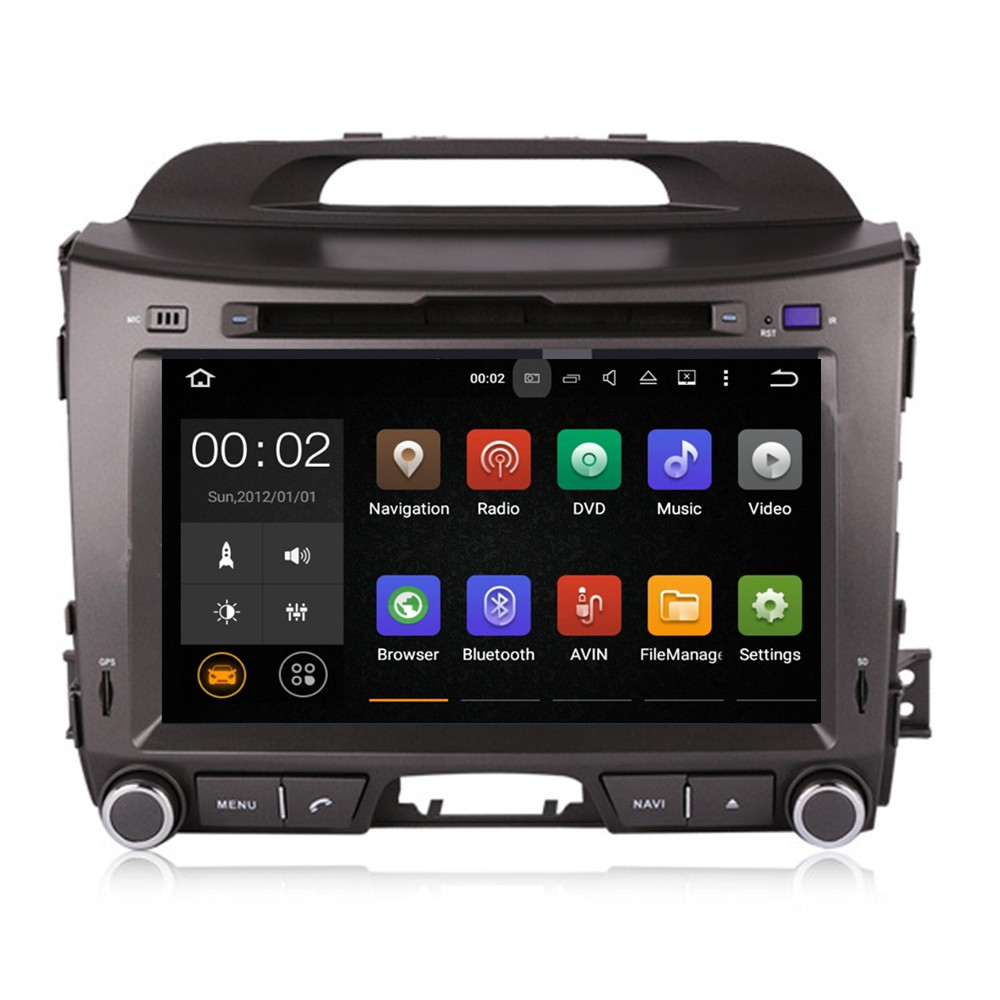 Pure Android 5. 1.1 car dvd player with gps navigation for KIA sportage 2010 2011 2012 with bluetooth TV radio and mp3 player