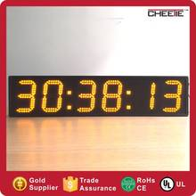 Sport Wall Hanging 6 Digit Number Clock Outdoor Digital Led Clock