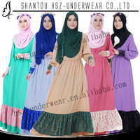 MD A004 Jilbab Arabic islamic wear good supplier casual wear for women long muslim wear