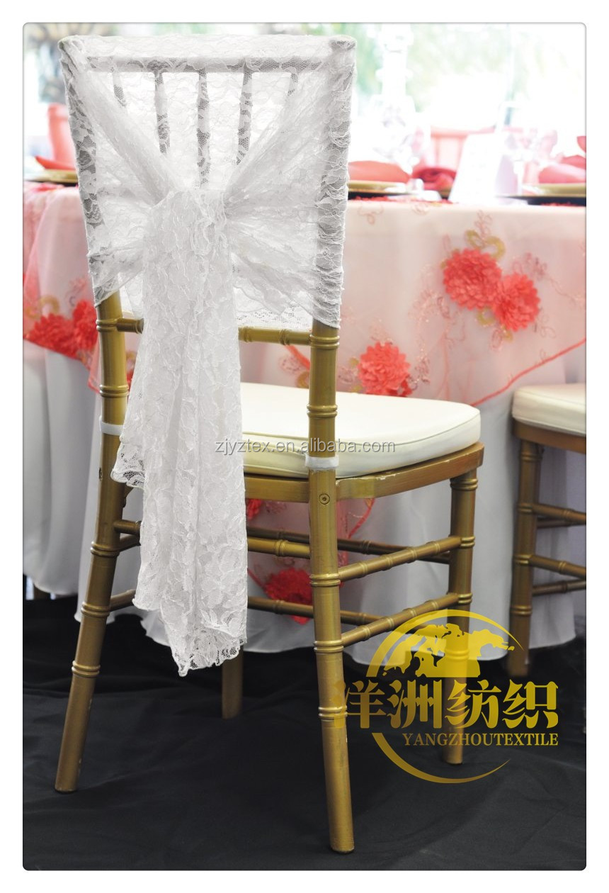 2016 new design white lace chair hood