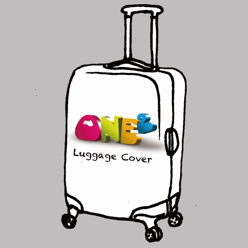 ONE2 Design Creative Color Printed Luggage Cover Spandex Travel Suitcase Protective Cover