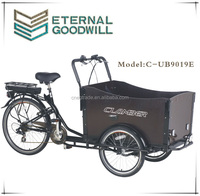 Hot sale three wheel bicycle/Cargo bike/tricycle/ cargobike with good qulity NY-UB9019E-6 speeds for adult