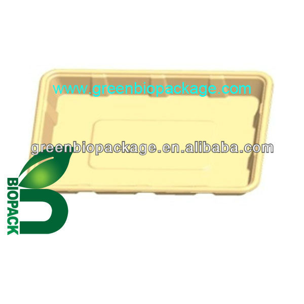eco-friendly biodegradable Bamboo Pulp food Tray