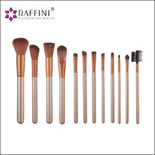 Hot Selling Wood Makeup Brushes Set 12pcs /Professional Cosmetic Brush Kit
