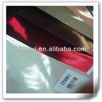 transfer film pu synthetic leather for lady shoes, imitation leather to make sandal