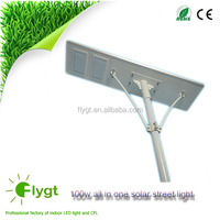 Top 10 China Suppliers All in one solar street light 12v solar 100 watt LED lamp 60w sunpower solar panel with 3 years warranty