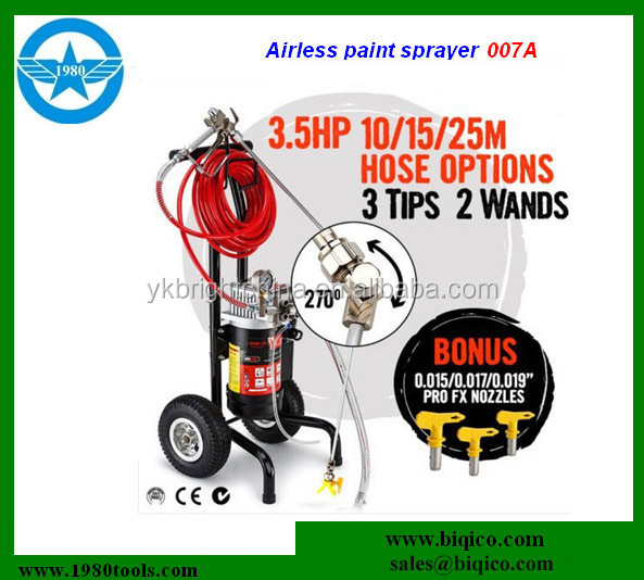 factory direct sell NEW 3.5HP Airless Paint Sprayer Electric Spray Gun Machine Nozzles Wand 1850W
