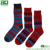 China Manufacturer Wholesale Colorful Jacquard Socks Men Crew Cotton Custom Socks