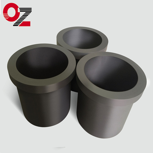 High strength graphite crucibles for melting cast iron